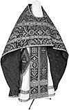 Russian Priest vestments - rayon brocade S4 (black-silver)