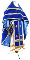 Russian Priest vestments - natural German velvet (blue-gold)