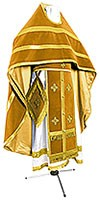 Russian Priest vestments - natural German velvet (yellow-gold)