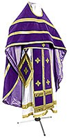 Russian Priest vestments - natural German velvet (violet-gold)