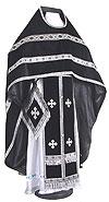 Russian Priest vestments - natural German velvet (black-silver)