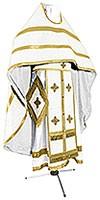 Russian Priest vestments - natural German velvet (white-gold)