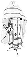 Russian Priest vestments - natural German velvet (white-silver)