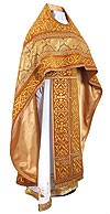 Embroidered Russian Priest vestments - Wattled (yellow-gold)