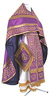 Embroidered Russian Priest vestments - Wattled (violet-gold)