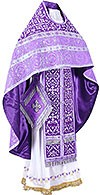 Embroidered Russian Priest vestments - Wattled (violet-silver)