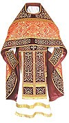 Embroidered Russian Priest vestments - Wattled (red-gold)