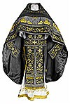 Embroidered Russian Priest vestments - Iris (black-gold)