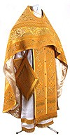 Embroidered Russian Priest vestments - Iris (yellow-gold)