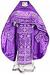 Embroidered Russian Priest vestments - Iris (violet-silver)