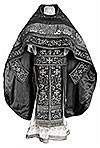 Embroidered Russian Priest vestments - Iris (black-silver)