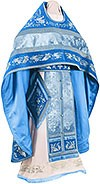 Embroidered Russian Priest vestments - Chrysanthemum (blue-silver)