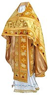 Embroidered Russian Priest vestments - Chrysanthemum (yellow-gold)
