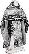 Embroidered Russian Priest vestments - Chrysanthemum (black-silver)