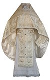 Embroidered Russian Priest vestments - Chrysanthemum (white-silver)