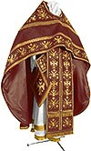 Embroidered Russian Priest vestments - Byzantine Eagle (claret-gold)