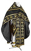 Embroidered Russian Priest vestments - Byzantine Eagle (black-gold)