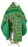 Embroidered Russian Priest vestments - Byzantine Eagle (green-gold)