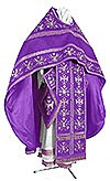 Embroidered Russian Priest vestments - Byzantine Eagle (violet-silver)