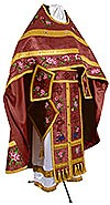 Embroidered Russian Priest vestments - Eden Birds (claret-gold)