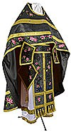 Embroidered Russian Priest vestments - Eden Birds (black-gold)