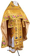 Embroidered Russian Priest vestments - Eden Birds (yellow-gold)