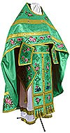 Embroidered Russian Priest vestments - Eden Birds (green-gold)