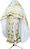 Embroidered Russian Priest vestments - Eden Birds (white-gold)