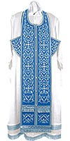 Embroidered Epitrachelion Set - Wattled (Blue-Silver)