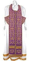 Embroidered Epitrakhilion set - Wattled (violet-gold)