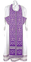 Embroidered Epitrakhilion set - Wattled (violet-silver)