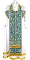 Embroidered Epitrakhilion set - Iris (blue-gold)