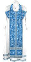 Embroidered Epitrakhilion set - Iris (blue-silver)