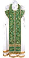 Embroidered Epitrakhilion set - Iris (green-gold)