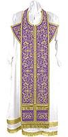 Embroidered Epitrakhilion set - Iris (violet-gold)