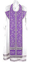 Embroidered Epitrachelion Set - Iris (Violet-Silver)