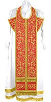 Embroidered Epitrakhilion set - Iris (red-gold)