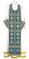Embroidered Epitrakhilion set - Byzantine Eagle (blue-gold)