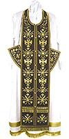 Embroidered Epitrakhilion set - Byzantine Eagle (black-gold)