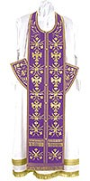 Embroidered Epitrakhilion set - Byzantine Eagle (violet-gold)