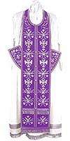 Embroidered Epitrakhilion set - Byzantine Eagle (violet-silver)
