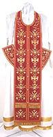 Embroidered Epitrakhilion set - Byzantine Eagle (red-gold)