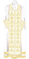 Embroidered Epitrakhilion set - Byzantine Eagle (white-gold)