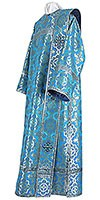 Deacon vestments - metallic brocade B (blue-silver)