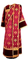 Deacon vestments - metallic brocade B (claret-gold)