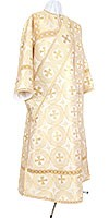 Deacon vestments - metallic brocade B (white-gold)