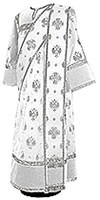 Deacon vestments - metallic brocade B (white-silver)