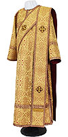 Deacon vestments - metallic brocade BG2 (yellow-claret-gold)