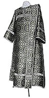Deacon vestments - metallic brocade BG2 (black-silver)
