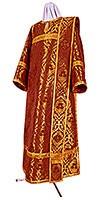 Deacon vestments - metallic brocade BG4 (claret-gold)